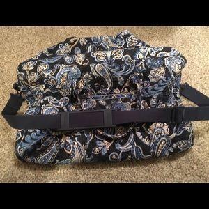 Vera Bradley weekender duffle bag blue paisley